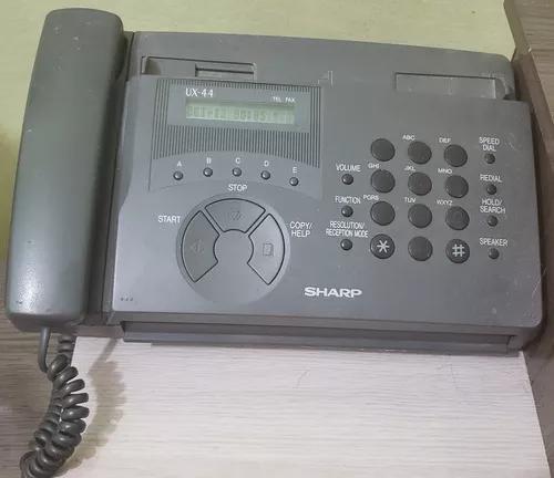 Telefone fax ux44 sharp com manual funcionando perfeitamente