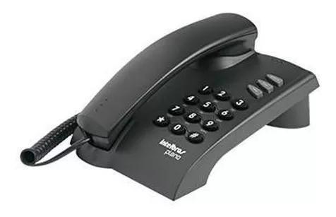 Telefone fixo com fio intelbrás pleno preto 100% original