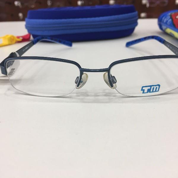Armação óculos infantil turma mônica 1022 azul cebolinha