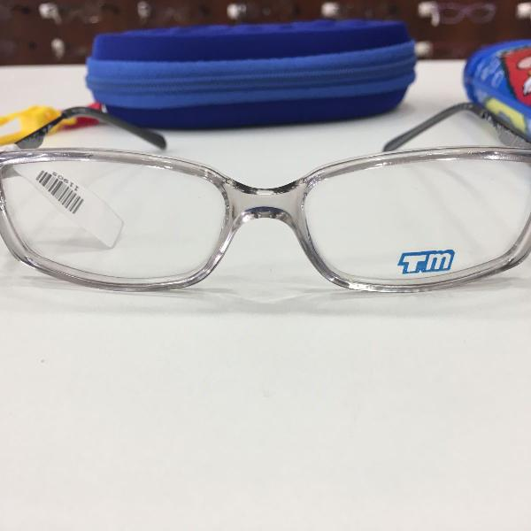 Armação óculos infantil turma mônica 8101 cinza