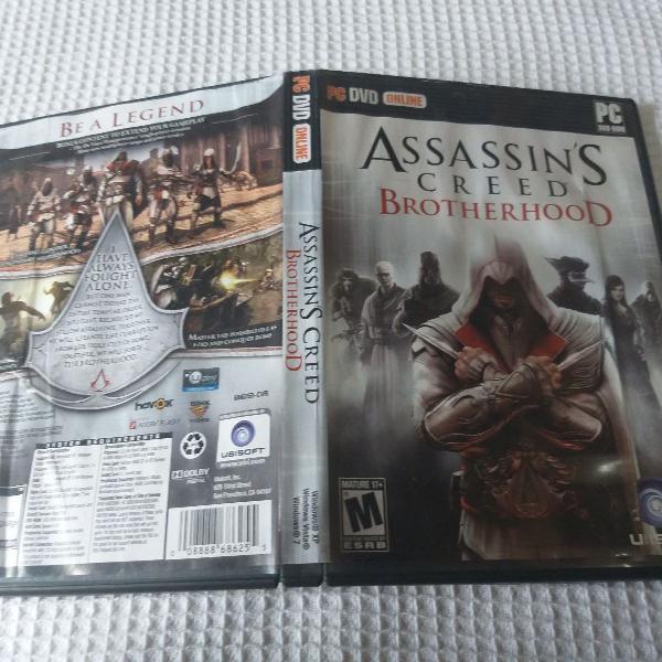 Assassin's creed brotherhood pc cd rom jogo pra pc