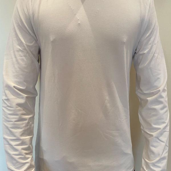 Camiseta branca manga longa