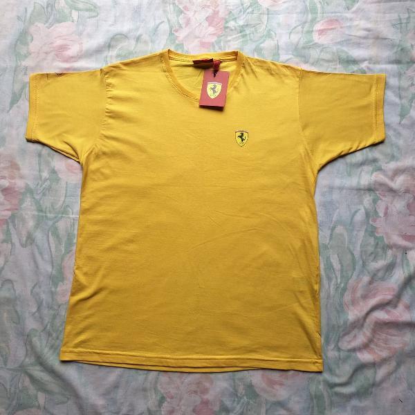 Camiseta ferrari amarela g oficial