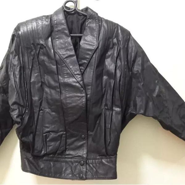 Casaco jaqueta de couro