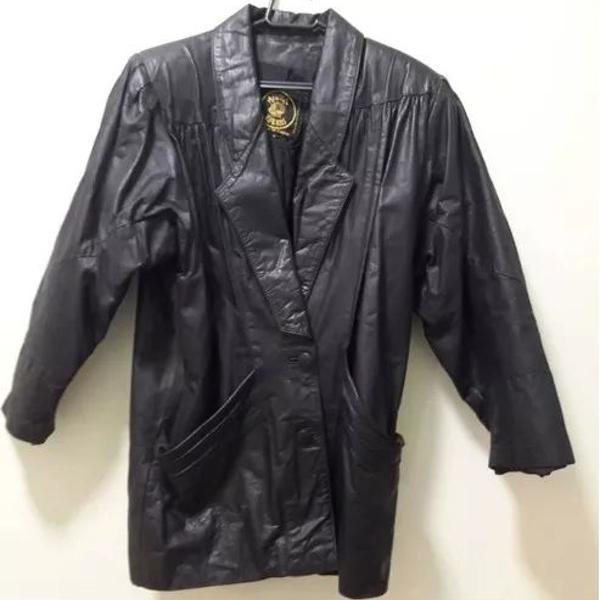 Casaco jaqueta de couro argentino