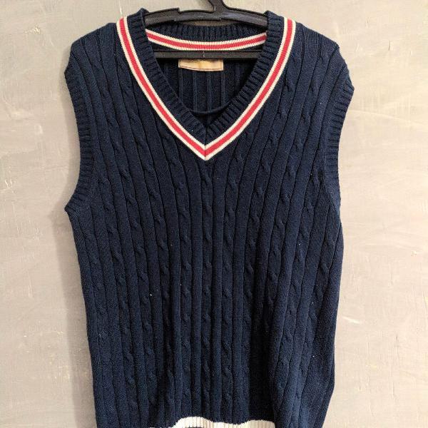 Colete de lã navy c&a m