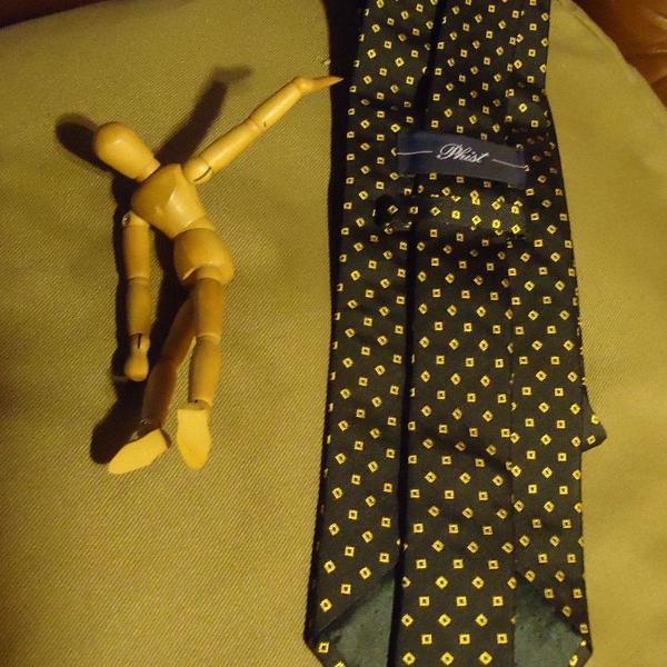 Gravata italiana de seda azul marca:phist