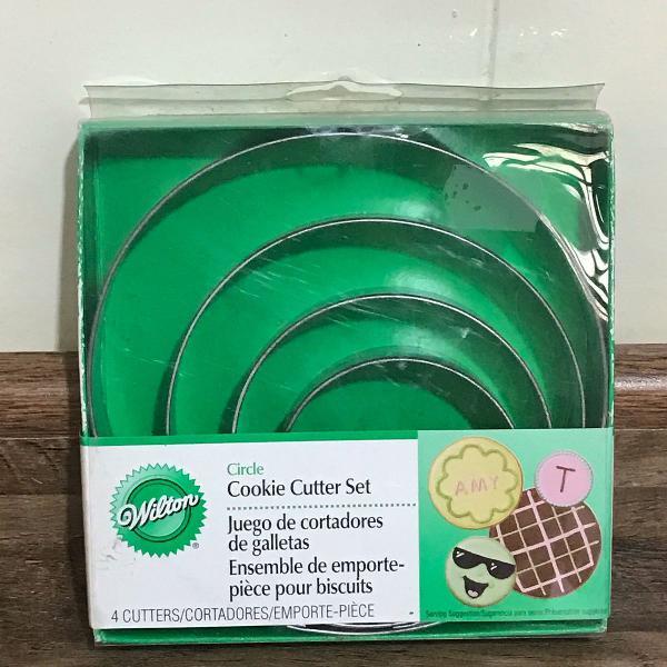 Jogo de cortadores biscoito de aço inox