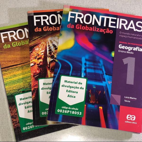 Livro de geografia - fronteiras da globalização - editora