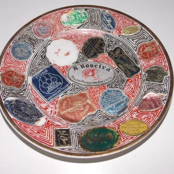 Prato antigo de sobremesa porcelana mauá