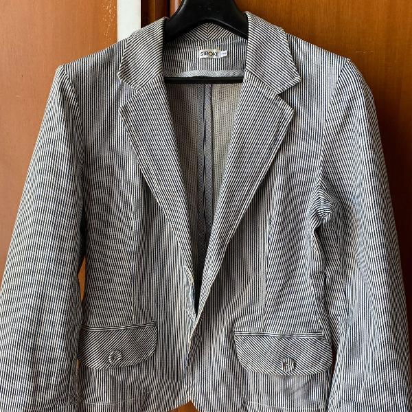 Stroke | blazer de algodão listrado | nunca usado