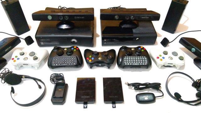 Acessórios xbox 360 - kinect, controle, hd, consoles,