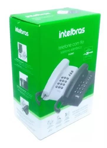 Aparelho de telefone fixo com fio intelbras pleno preto