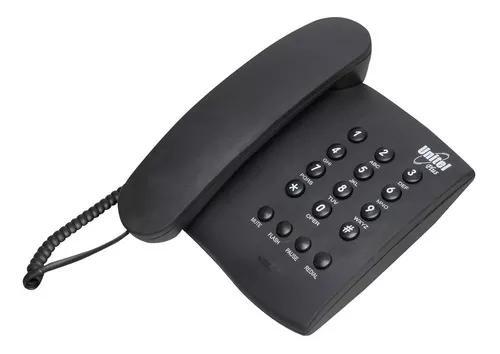 Aparelho telefone com fio fixo plus unitel
