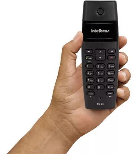 Aparelho telefone s/ fio digital 1,9ghz ts40 preto intelbras