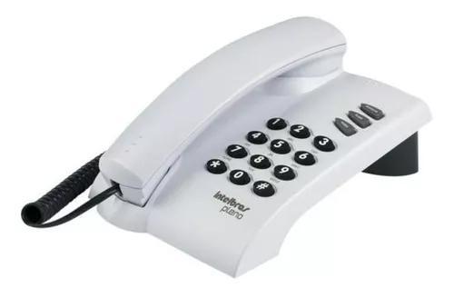 Aparelho telefonico fixo com fio intelbras pleno cinza artic