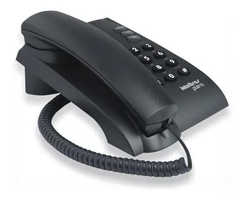 Aparelho telefonico fixo pleno pt com fio intelbras