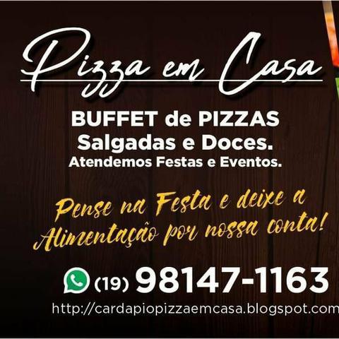 Buffet pizza em casa