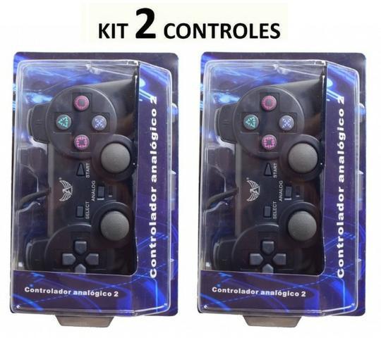 Kit 02 controles de ps2 altomex