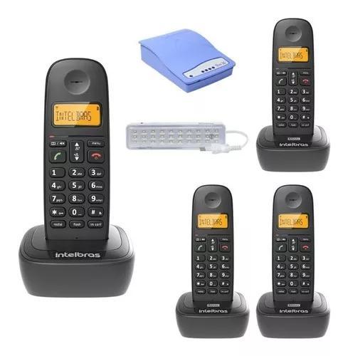 Kit aparelho telefone bina 3 ramal entrada chip celular 3g