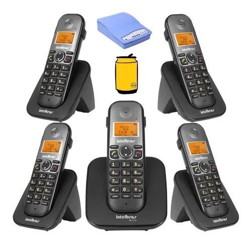 Kit aparelho telefone fixo bina com 4 ramal e entrada chip