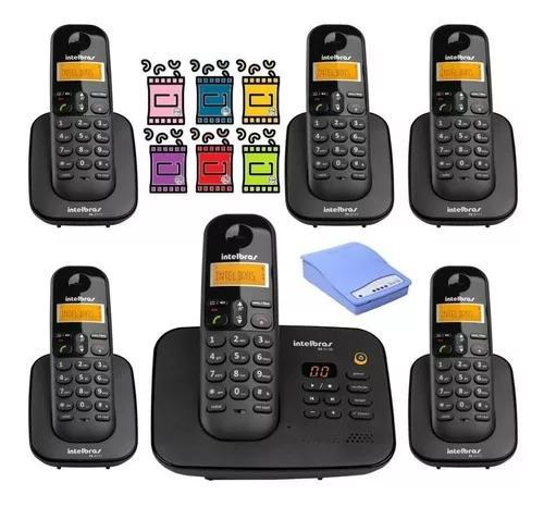 Kit aparelho telefone fixo ts 3130 bina 5 ramal entrada chip