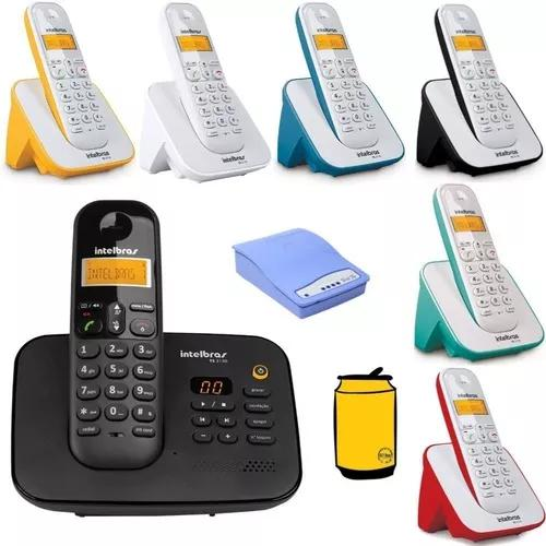 Kit aparelho telefone fixo ts 3130 bina 6 ramal entrada chip