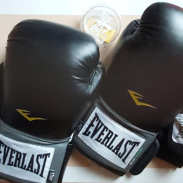 Kit luva box everlast training 12 oz