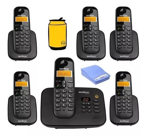 Kit telefone ts 3130 com 5 ramal bina e entrada chip celular