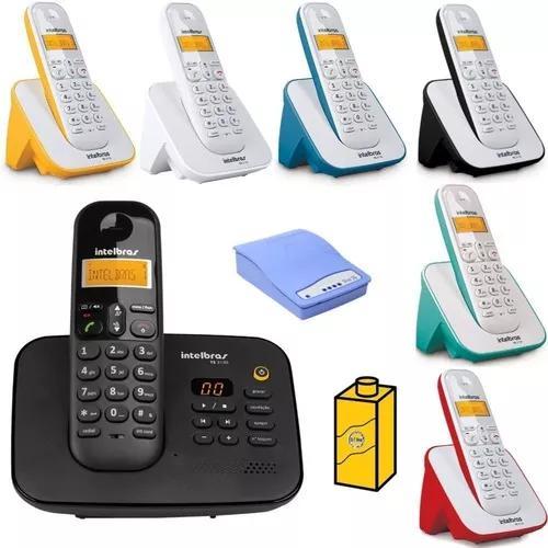 Kit telefone ts 3130 com 6 ramal bina e entrada chip celular