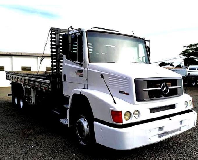 Mb 1620 l truck 6x2 carroceria tampa alta ano 2012