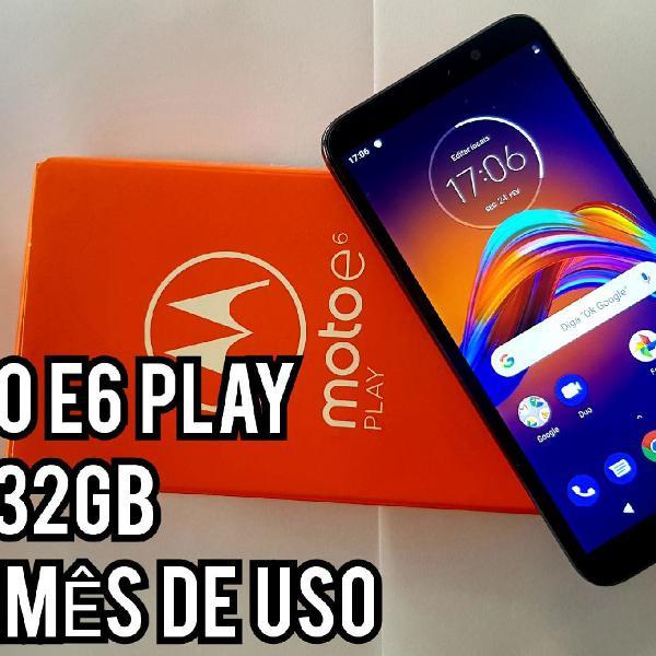 Moto e6 play cinza metálico 32gb