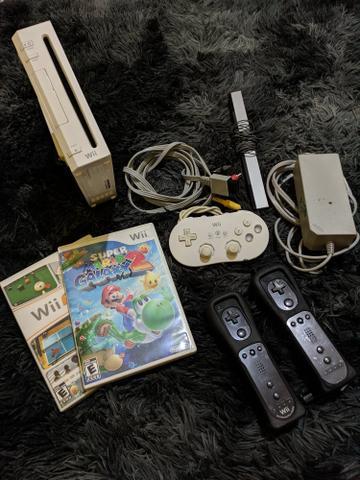 Nintendo wii + acessórios e jogos
