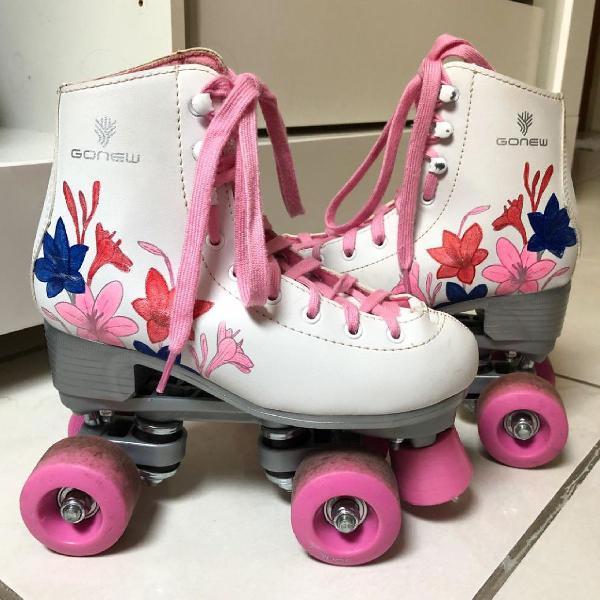 Patins 4 rodas gonew quad retrô infanto juvenil - original