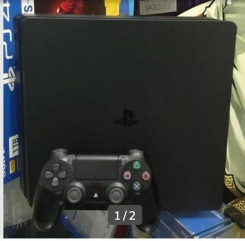 Playstation 4 slim 500gb seminovo com jogo + 3 meses de