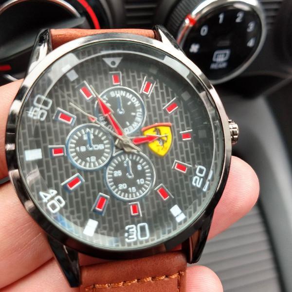 Relógio ferrari pulseira de couro exclusivo só 99,00 !!!