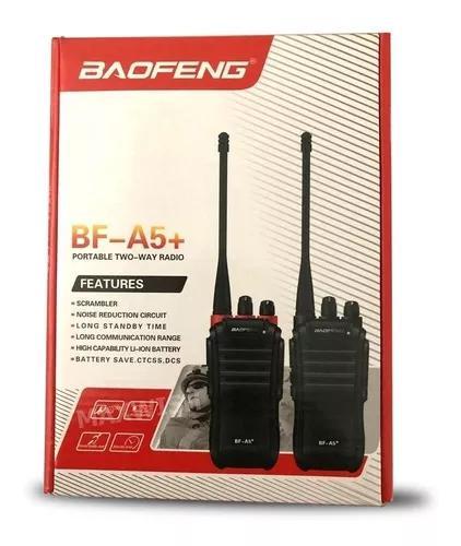 Radio ht walk talk baofeng bf a5+ fone - pronta entrega