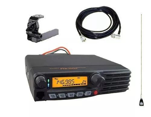 Radio vhf py yaesu 3100r + kit antena pickup caminhonete
