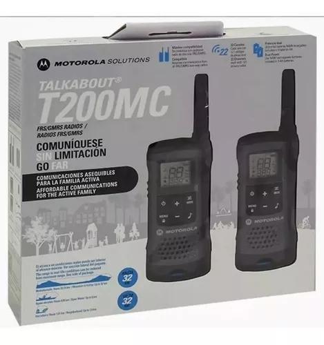 Rádio walkie talkie motorola t200mc 32 km 22 canais