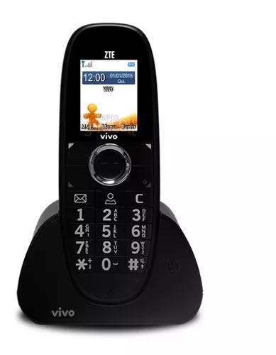 Telefone 3g gsm zte wp750 novo vivo tim oi claro fixo preto