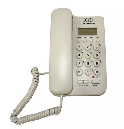 Telefone com fio fixo oho - 806cid