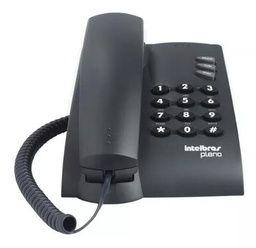 Telefone com fio intelbras de mesa pleno - preto