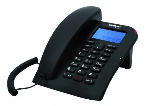 Telefone com fio intelbras tc60 id identificador de chamadas