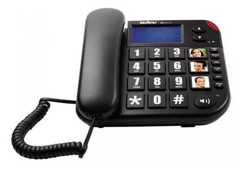 Telefone com fio intelbras tok fácil id, c/identificador de