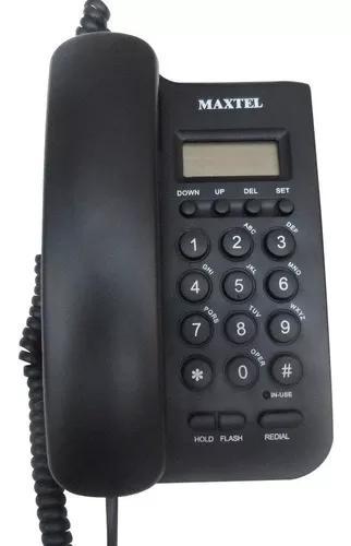Telefone com fio maxtel mesa parede mt-806cid