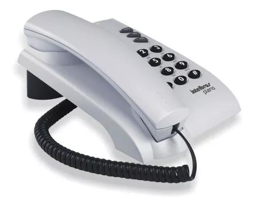 Telefone com fio pleno intelbras cinza artico