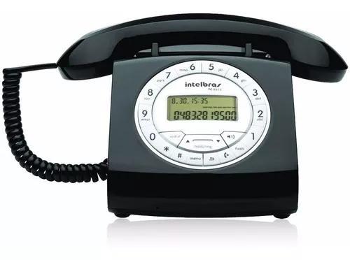 Telefone de mesa c/fio viva voz id chamadas tc8312 preto