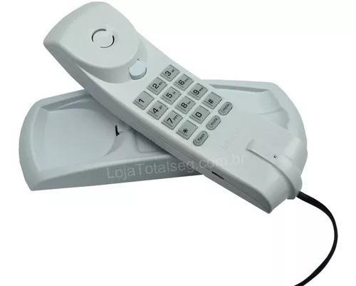 Telefone gondola com fio intelbras cinza artico tc20