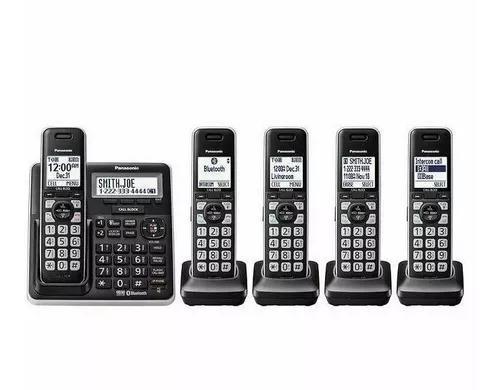 Telefone panasonic kgt 5 bases fones de ouvido bluetooth
