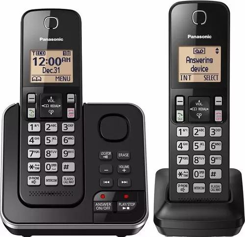 Telefone panasonic kx-tgc362 com sec. eletrônica + 1 ramal